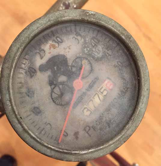 W.C. Bailey's bicycle odometer and speedometer